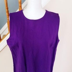 Lauren Ralph Lauren Dresses - Lauren Ralph Lauren Purple Sheath Sleeveless Dress